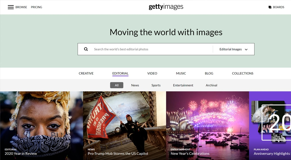 Getty Images - фотостоки, фотобанки и микростоки